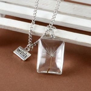 Other - Dandelion seed WISH Necklace NEW